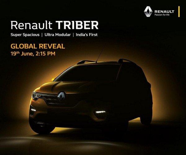 renault triber teaser front