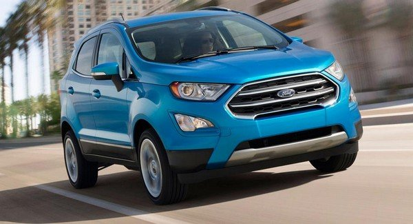 ford ecosport 2018 facelift blue front face