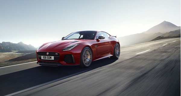 2019 jaguar f-type svr red side angle