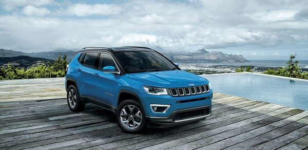 jeep compass blue front angle