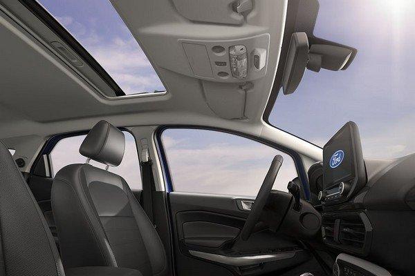 ford ecosport interior sunroof view