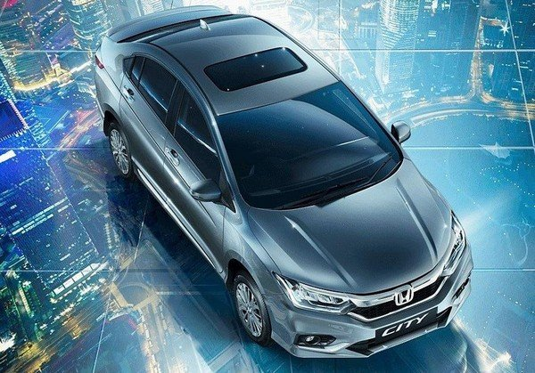 honda city top view with sunroof