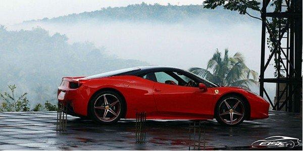 dr rabieullah ferrari 458 italia red side profile