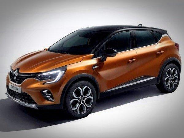 2020 Euro Renault Captur orange side profile angle