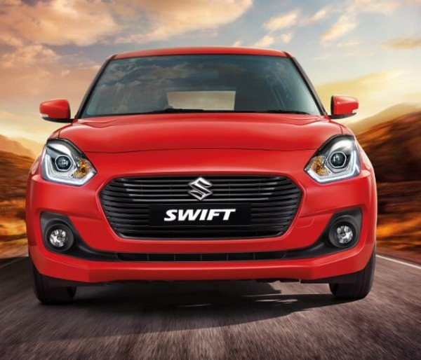 maruti swift red front angle