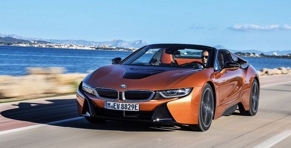 bmw i8 roadster front angle