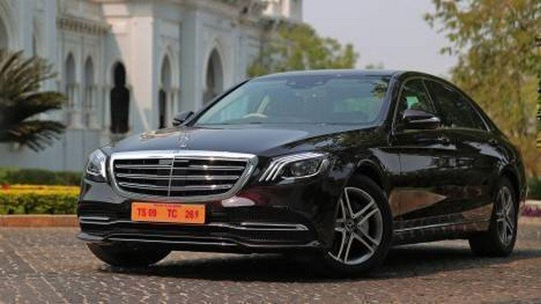 2018 mercedes s-class 350d black front angle