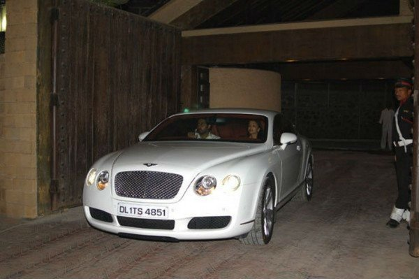 abhishek bachchan bentley continental gt white front angle