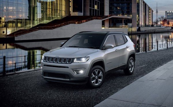 Jeep compass grey colour front angle