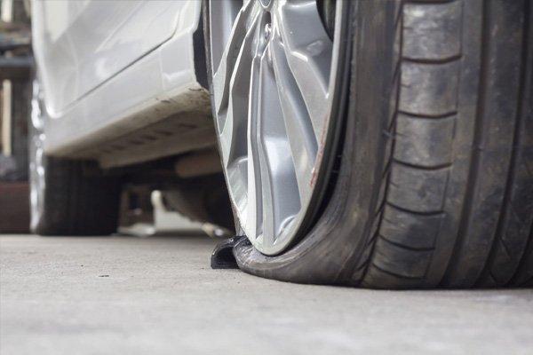 sagging tyre