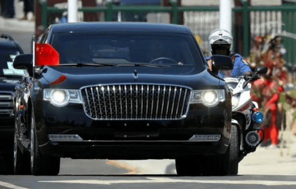 Front shot of China's president car