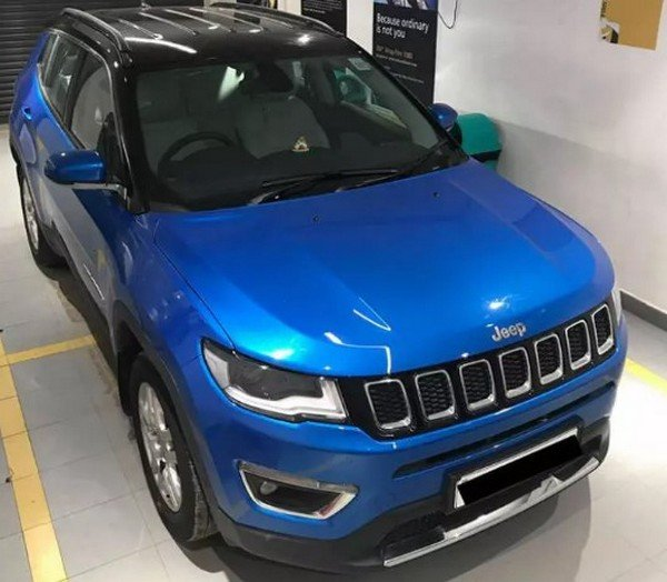 jeep compass customisation blue wrap