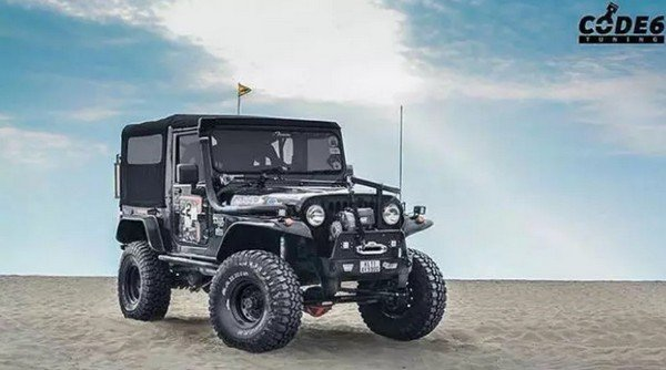 customised jeep model front angle
