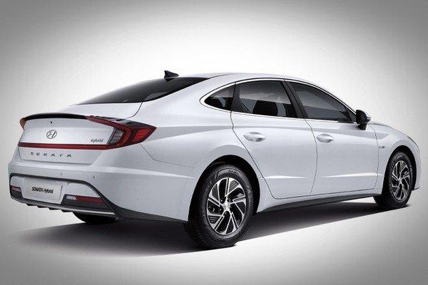 2020 hyundai sonata hybrid rear