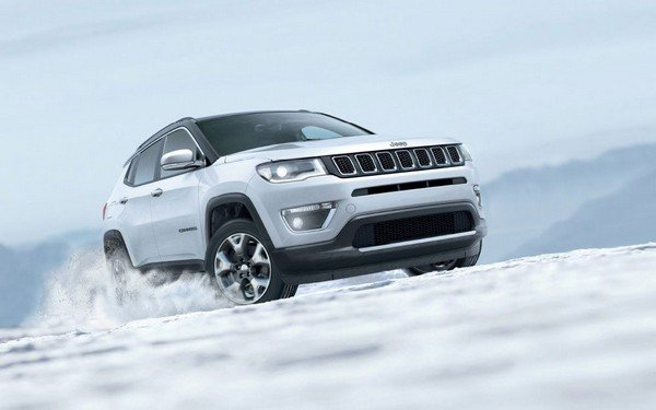 jeep compass white front angle