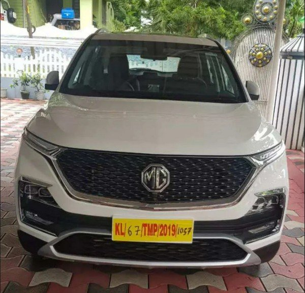 mg hector white front fascia
