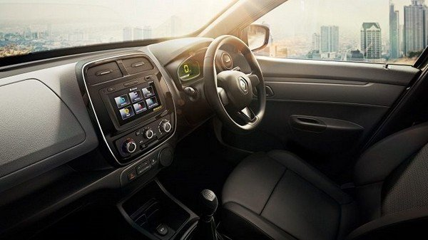 2018 renault kwid interior dashboard and front seat