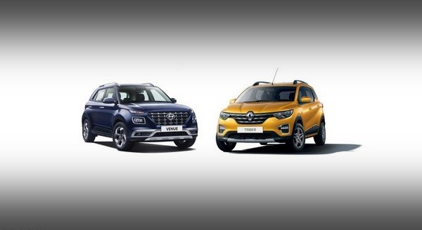 renault triber vs hyundai venue comparison