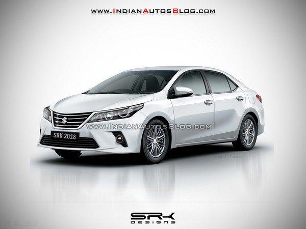 Cars atAuto Expo 2020 - Maruti badged toyota corolla rendered