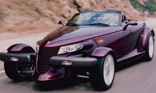 dwayne johnson 1999 plymouth prowler purple front angle