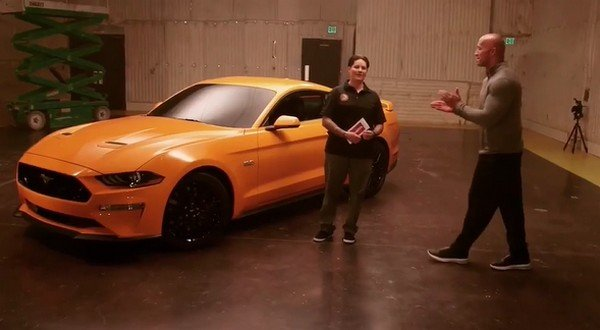 dwayne johnson 2018 ford mustang