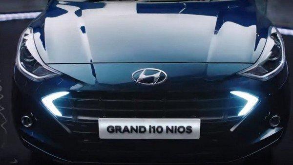 2019 grand i10 nios front angle