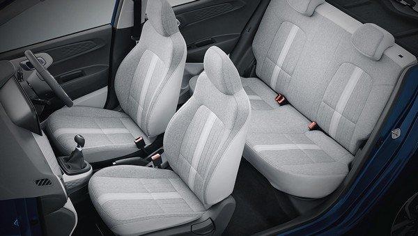2019 hyundai grand i10 nios interior seat- ayout