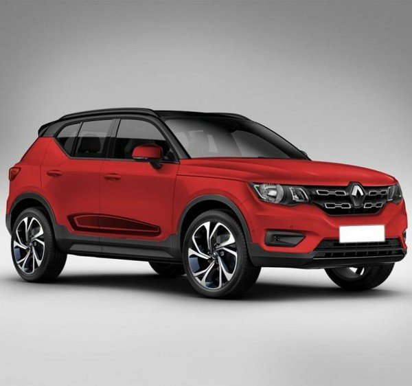 renault hbc compact suv red front angle