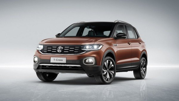 vw t-cross front three quarters left side