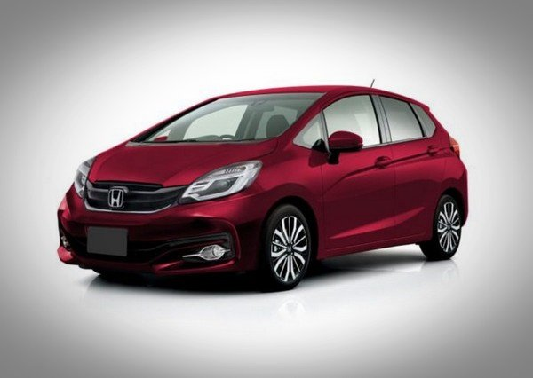 2020 honda jazz rendered red front angle
