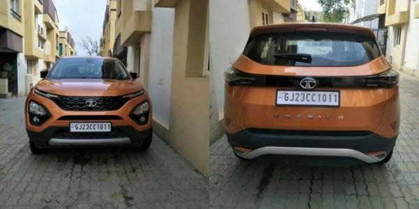 used tata harrier front and rear