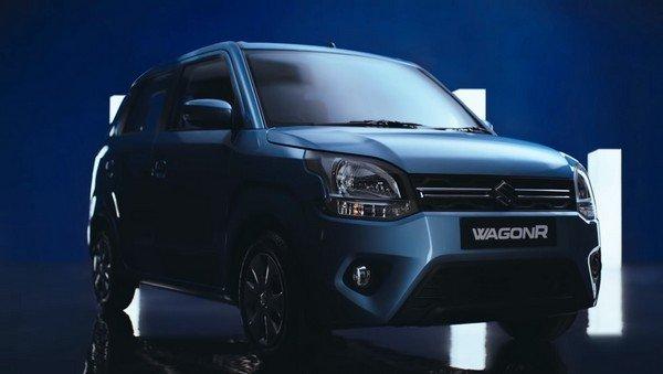 2019 maruti wagon-r blue front angle