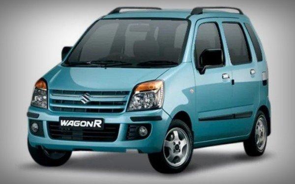 maruti wagonr old model blue front angle
