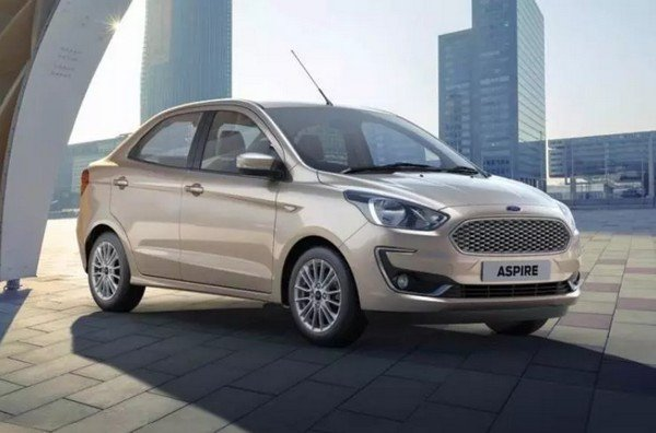 2018 ford aspire silver front angle