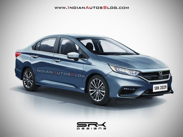 honda city 2020 front angle rendered