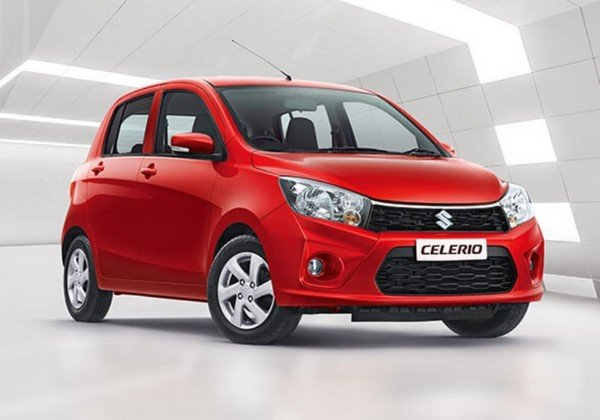 maruti celerio red front three quarters