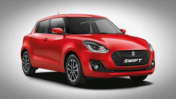 2018 maruti swift red front angle