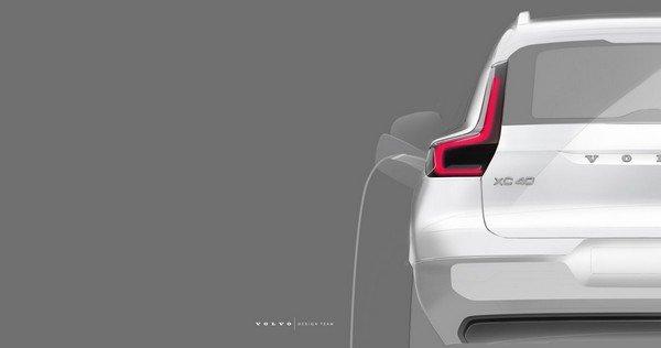 sketch volvo xc40 suv electric rear