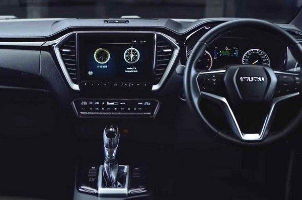 2020 isuzu d-max interior dashboard