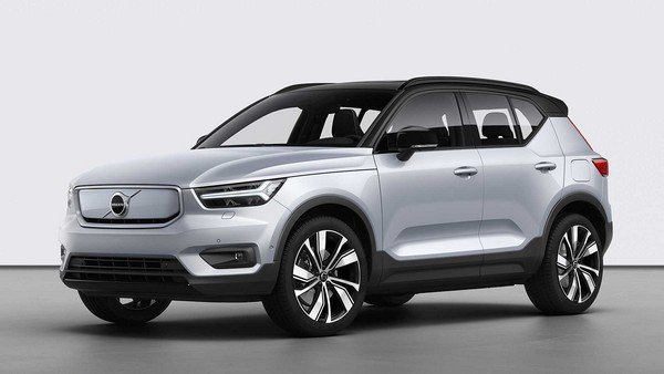 volvo xc40 recharge 2020 silver front angle