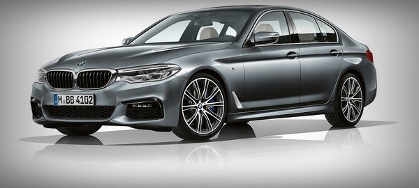 bmw 5-series front three quarters