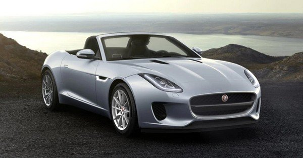 jaguar f-type convertible silver front angle