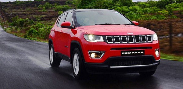 jeep compass red front view