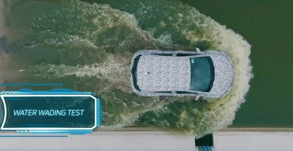 tata nexon EV water wading test