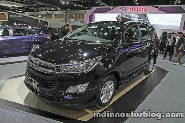 Front side shot of the Toyota Innova Crysta