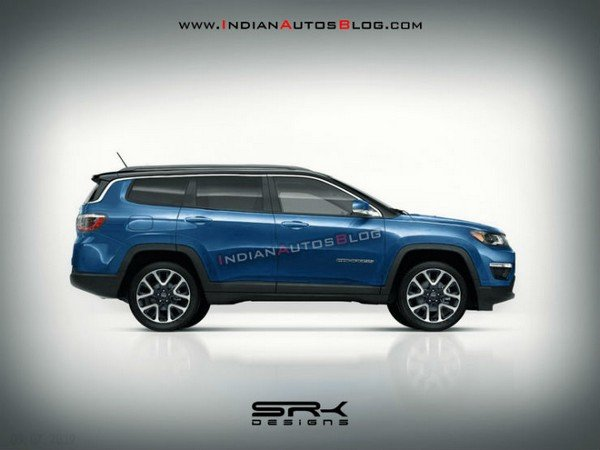 jeep compass 7-seater rendering