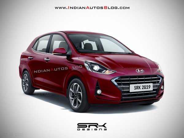 Front side angle of Hyundai Aura