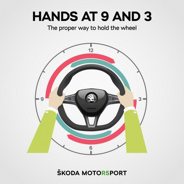 holding the steering wheel correctly