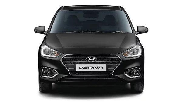 Hyundai Verna front angle shot