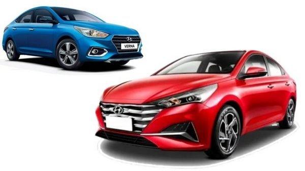 Front side shot of 2020 Hyundai Verna